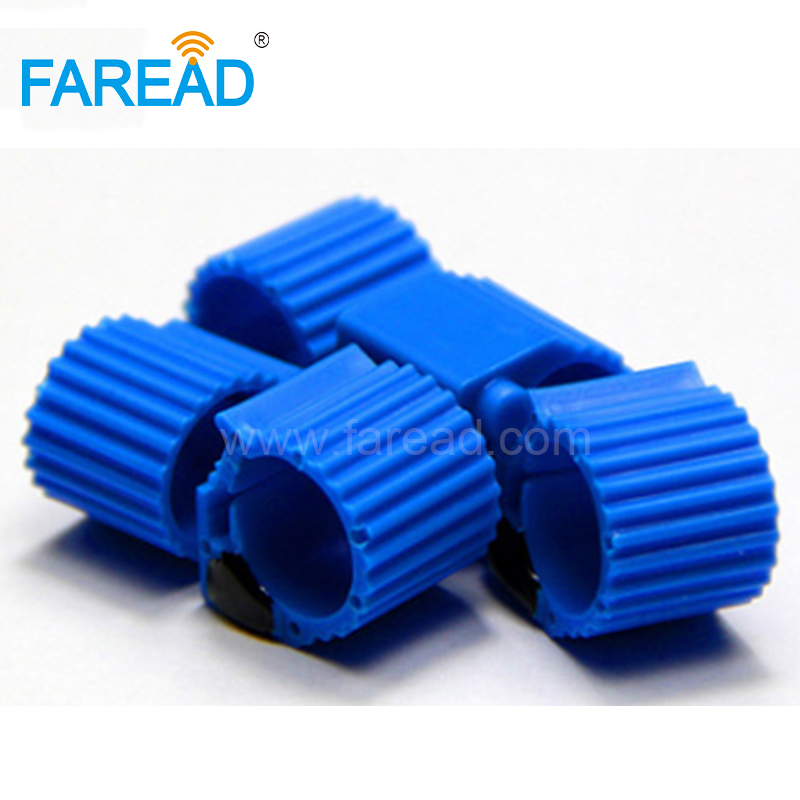 Free Shipping X100pcs ISO11784/5 FDX-B ABS 9mm EM4305 134.2KHz RFID Animal Tag Electronic RFID Pigeon Ring For For Racing