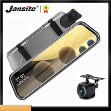 Jansite 10 Car DVR Touch Screen Dual lens Video Recorders Rear view mirrors Full metal back shell Stream Media Mirror Dash cam 10 car dvr touch screen stream media 1080p hd dual lens recorders rear view mirror backup camera dash cam simple install