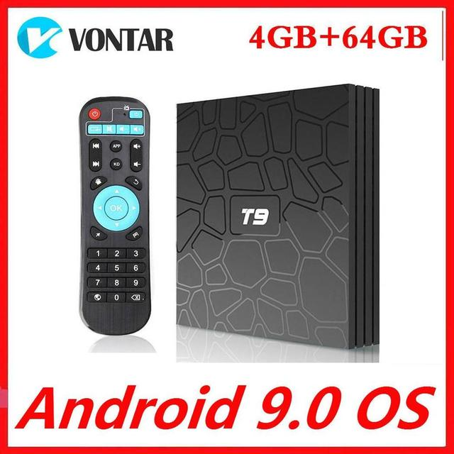 Smart Tv Box Android 9.0 RK3318 4Gb Ram 64Gb Rom Quadcore 4K Set Top Box 2.4G/5G Dual Wifi Media Player T9 Tvbox 2G16G
