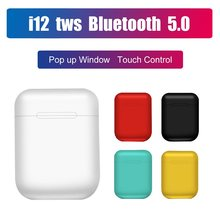 Hot Sale I12 Tws Bluetooth Earphone Touch Kontrol Nirkabel Headset True Wireless Stereo Speaker untuk Airdots Bantu Dengar Telinga untuk Ponsel(China)