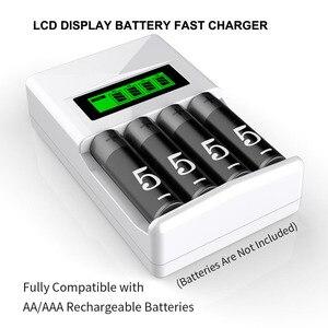 Image 3 - PHOMAX – chargeur de batterie intelligent avec écran LCD à 4 fentes, protection contre les courts circuits, pour piles rechargeables AA/AAA NiCd NiMh