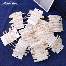 2019 Elegant Design Snap Barrette Stick Hairpin Girls New Hair Styling Fashion Korean Pearl Hair Clip For Women Accessories Hot ubuhle fashion women full pearl hair clip girls hair barrette hairpin hair elegant design sweet hair jewelry accessories 2019