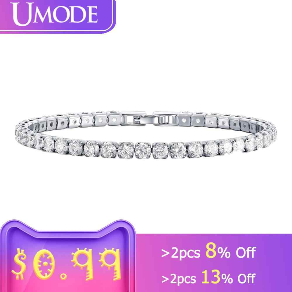 UMODE Fashion Charm Tennis Bracelets For Women Men Colorful Zirconia Jewelry Box Chain Braclets Gifts Pulseira Feminina AUB0097