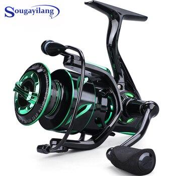 Sougayilang 12+1BB Carp Fishing Reel 6.2:1 High Speed Spinning Fishing Wheel with Magnetic Brake System for Fresh/Saltwater