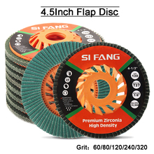 1-10Pcs Klappe Disc 115mm Schleif Scheiben Flache Rad Für Schleifen Aluminium Metall Oberfläche Finish 7/8