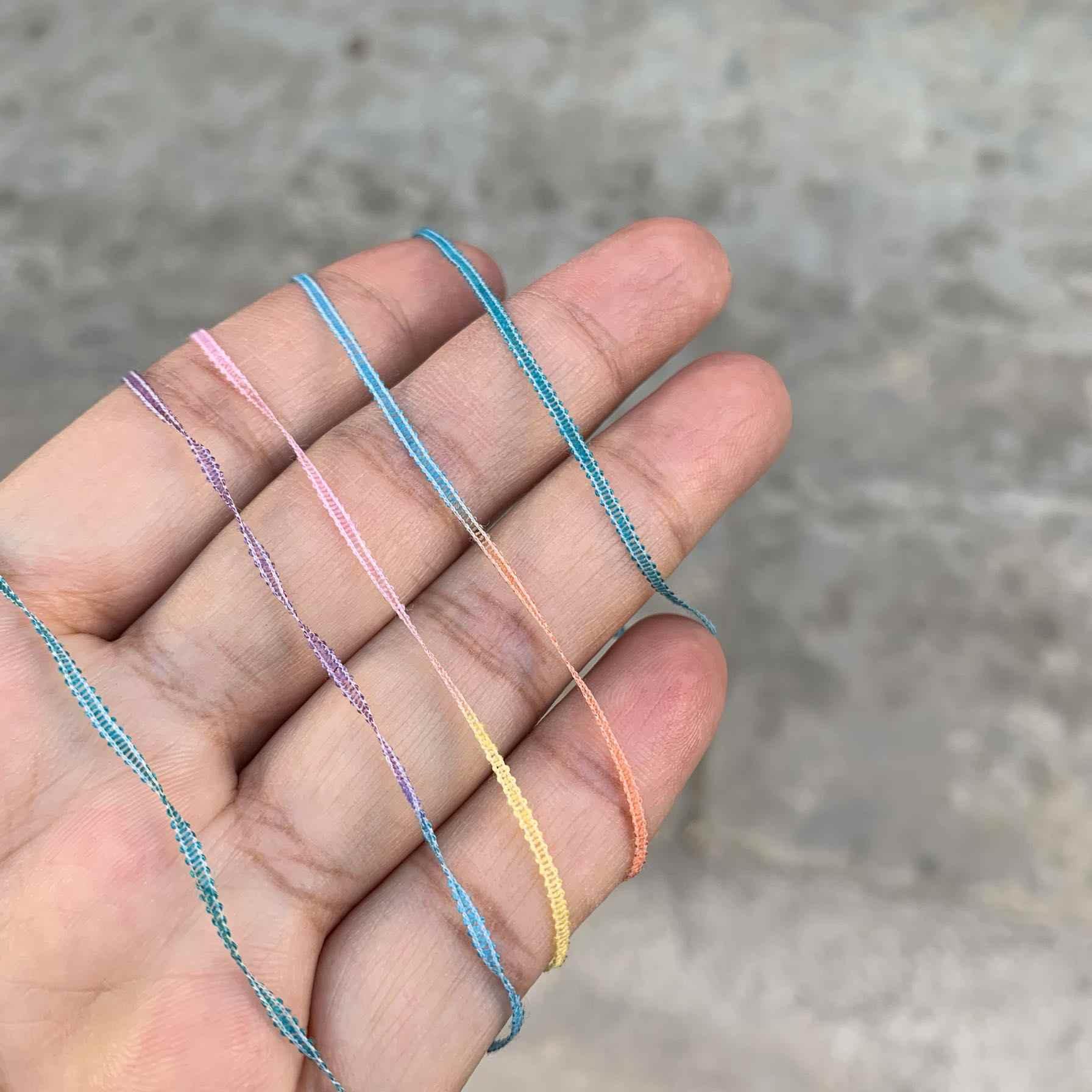Mới Đẹp Độc Đáo 250G Màu Sắc Cầu Vồng Bandlet Sợi Cho Đan Tua Rua Móc Sợi Handwork Hàng Thủ Công Tự Làm Dệt Sợi Chỉ Z4852