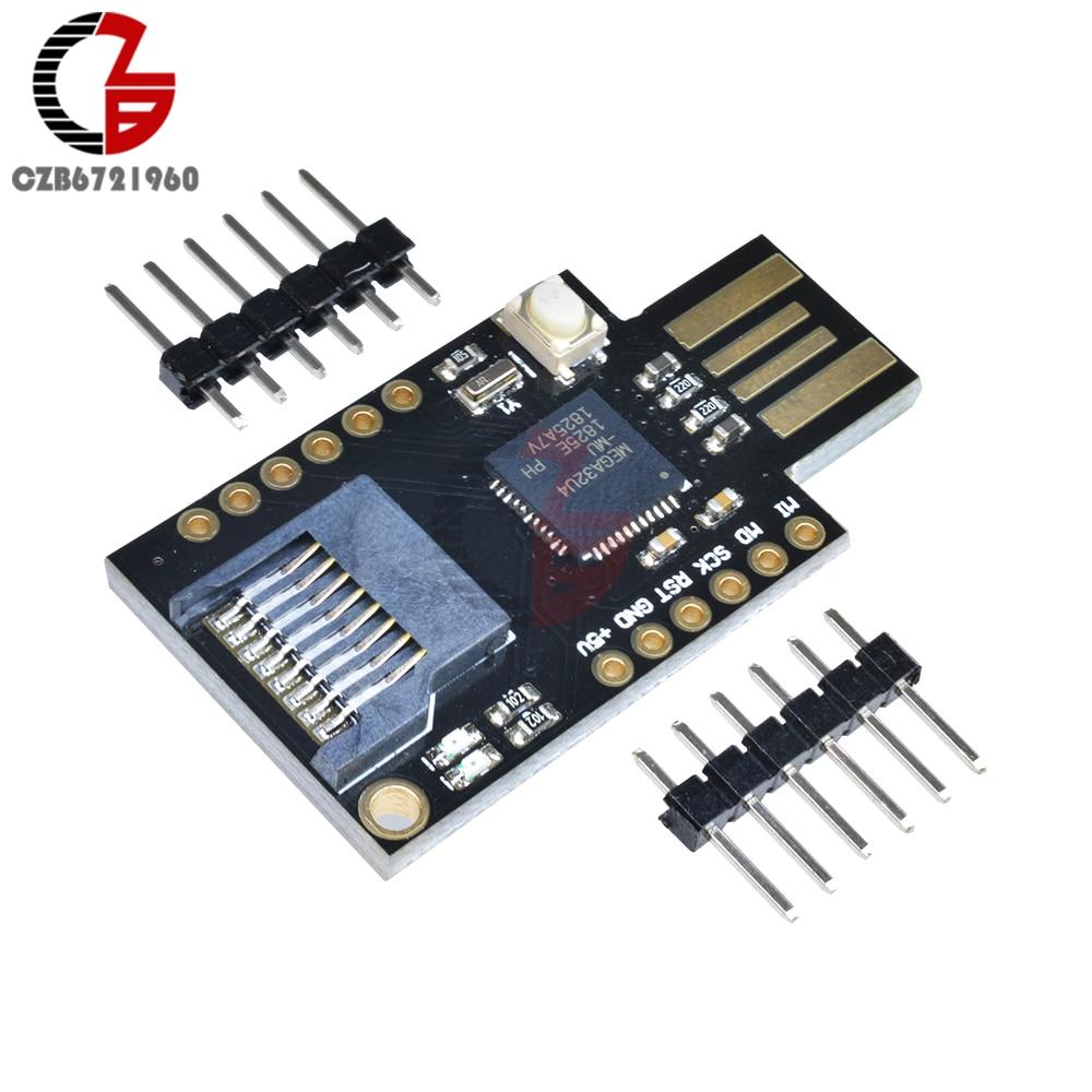 1PCS MicroSD Virtual Keyboard Badusb USB TF Memory Keboard ATMEGA32U4 Module