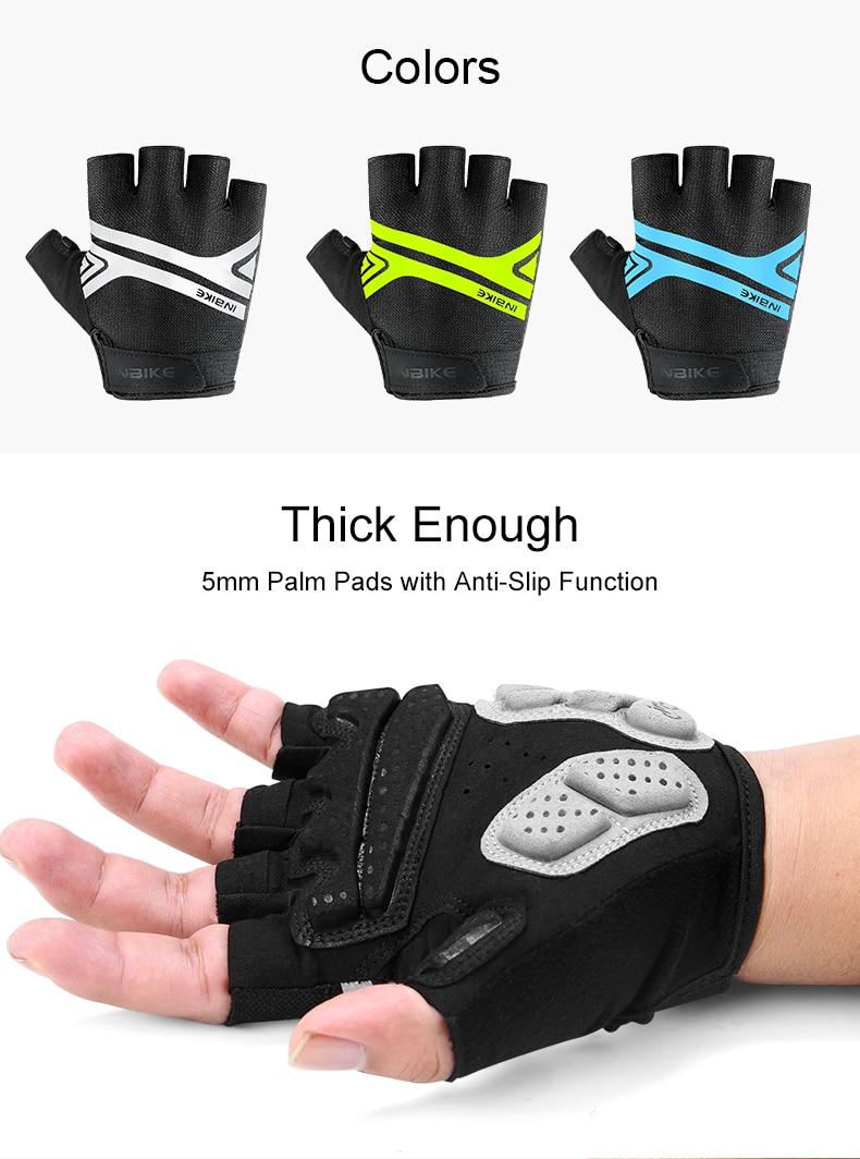Ινβικε αντικραδασμικά γάντια ποδηλασίας ανοιχτών δαχτύλων με επιφάνεια από τζέλ ανδρικά γυναικεία msow