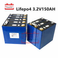 16Pcs 3.2v150ah Lifepo4 battery Power Rechargeable Batteries Lithium iron phosphate cell NOT100ah 120ah for 48V solar RV