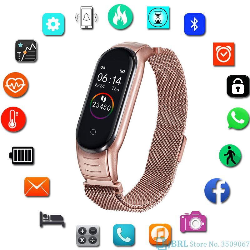 Fashion Digital Watch Women Men Sport Bracelet Electronic LED Ladies Wrist Watch Luxury Clock Male Stainless Steel Wristwatch