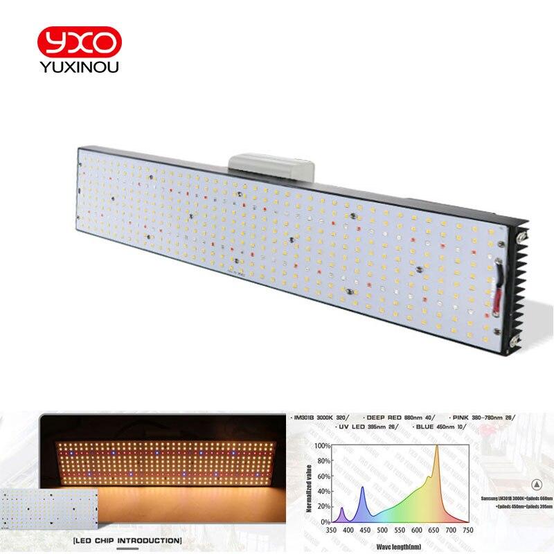 O diodo emissor de luz cresce o espectro completo 400 w samsung 3000 k da microplaqueta lm301b 240 dos pces da placa quântica, 660nm vegou vermelho/motorista meanwell do estado da flor