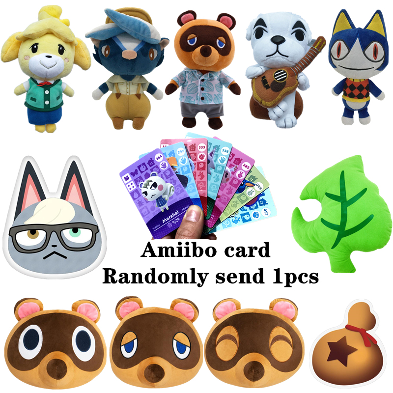 20cm 45cm Animal Crossing Plush Toy Free Give Away 1pcs Amiibo Card Jingjiang Doll KK Toy