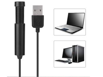 Mikrofon usb mikrofon kondensujący Mini studio audio Mic dla laptop mikrofon do karaoke uniwersalny przenośny mikrofon tanie i dobre opinie Wzmacniacz mikrofonowy YTC173