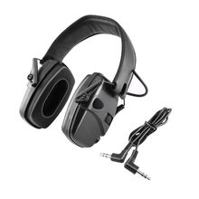 Tactical hearing protection electronic shooting headphones anti-noise impact sound amplification noise reduction headphones-BK
