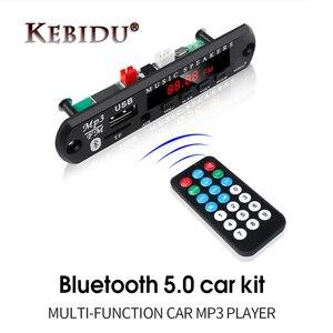 Kebidu 5V 12V MP3 Jogador Decodificador Bordo Módulo Sem Fio Bluetooth 5.0 Amplificador de Rádio TF USB Para Áudio Do Carro altofalante Do Carro Kit DIY