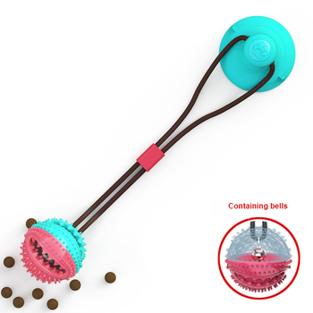 Pet Dog Toys Silicon Suction Cup Tug  2