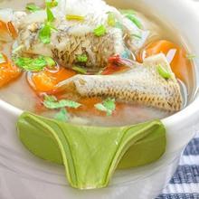 12*4,5 cm creativo de grado alimenticio gel de sílice verde antiderrames de silicona sopa Caño embudo olla Pan accesorios de cocina utensilios de cocina