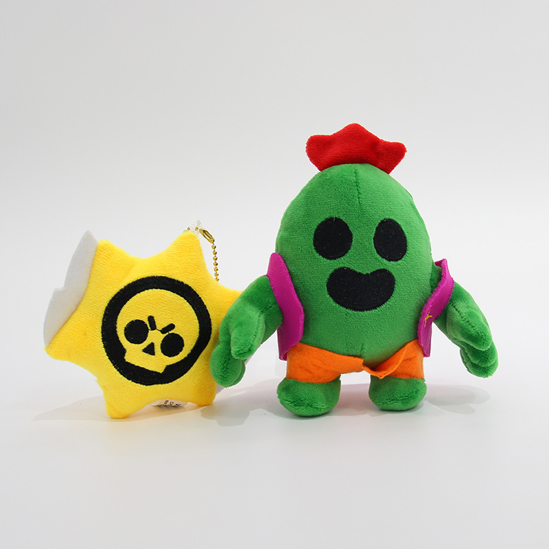 Brawl Stars Plush Pendant Cactus Car Keychain Game Hero Doll Creative Gift Soft Stuffed Plush Toys Model Children Birthday Gifts