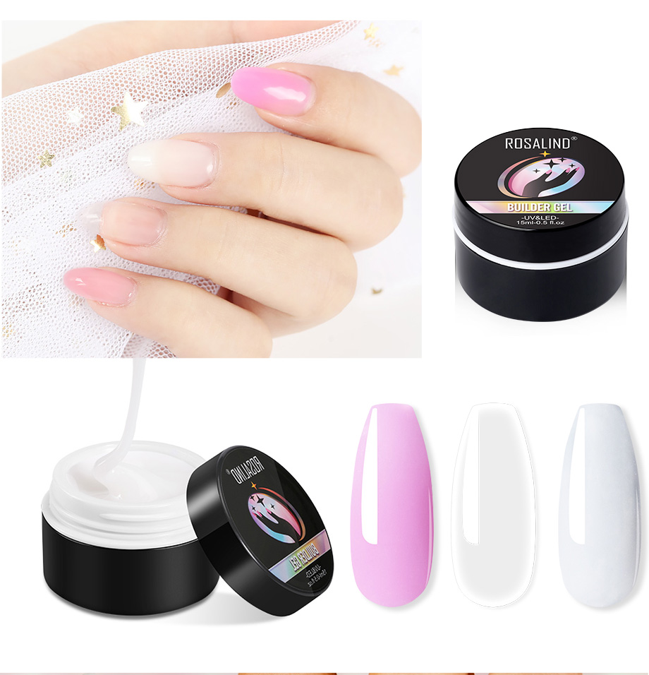 ROSALIND Polygel Nail Kit Lamp Gel Polish Set All for Manicure Nails Art Polygel For Nails Extensions Tool Kit Professional Set