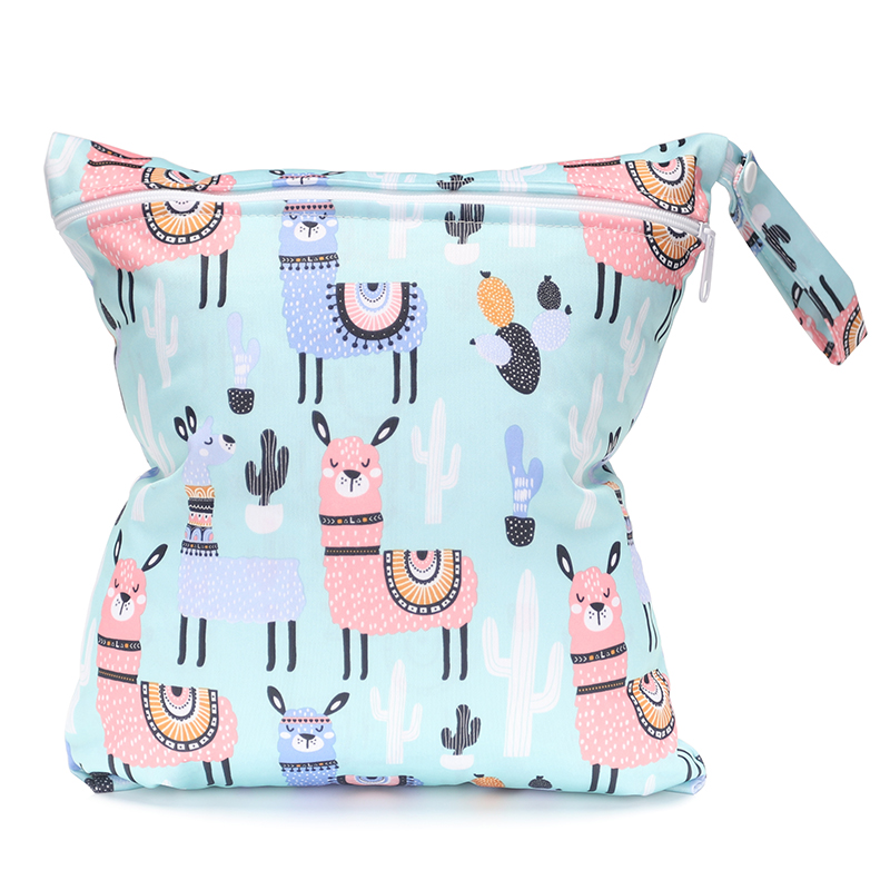 2018 Spring Mommy Bag Digital Print Diaper Bag Can Wash Urine Bag Lovely Animal Pattern Single Zipper Nappy Bag