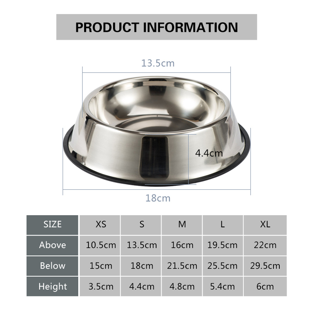 Dog Cat Bowls Stainless Steel Non-slip Durable Anti-fall Dogs Feeding Bowls for Small Medium Dogs Cat Placemat Feeder Pet 6