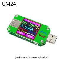 UM24 UM24C приложение USB 2,0 цветной ЖК-дисплей USB Вольтметр Амперметр тестер заряда батареи измеритель тока Вольтметр USB Тестер