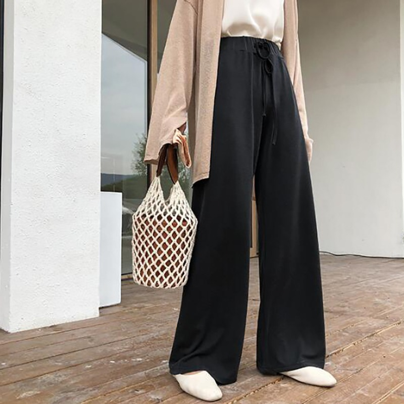 Loose Wide Leg Pants High Waist Trousers Women Pant Big Horn Capris Palazzo Flare Pants