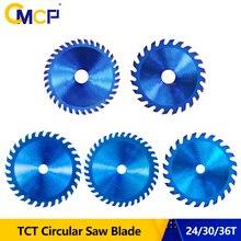 CMCP 85mm lama per sega per legno 24/30/36T Nano blu rivestito Mini lama per sega circolare 85x1 disco da taglio in metallo duro 0/15mm lama per sega TCT
