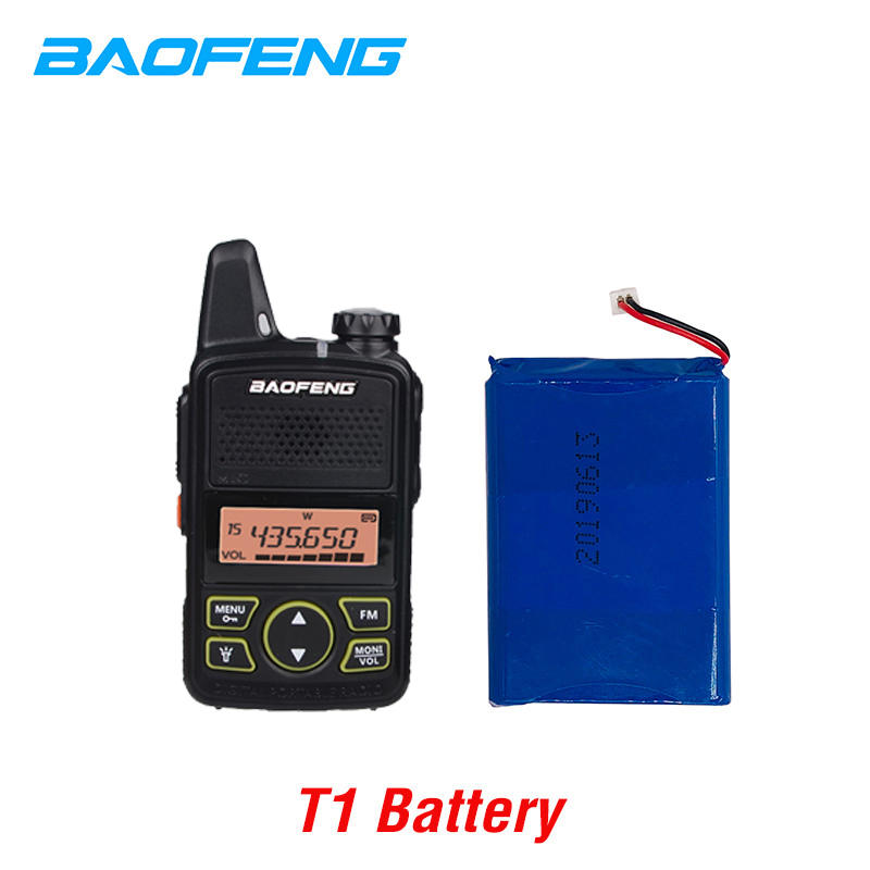 Original BAOFENG BF-T1 3.7V 1500mAh Li-ion Battery For BAOFENG BF-T1 Walkie Talkie BFT1 Mini Two Way Radio Baofeng Accessories
