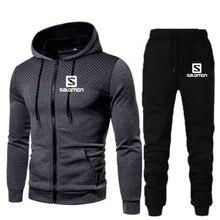 Terno do esporte masculino ginásio roupas de fitness conjuntos de treinamento futebol jérsei outono ternos masculinos correndo roupas esportivas marca hoodies conjunto