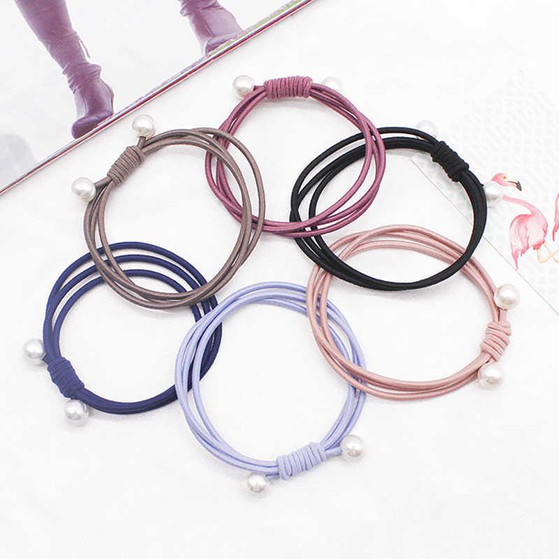 2019 Mode Parel Elastische Haarbanden Multilayer Haar Ring Paardenstaart Houder Hoofdband Rubberen Band Voor Vrouwen Meisjes Haaraccessoires