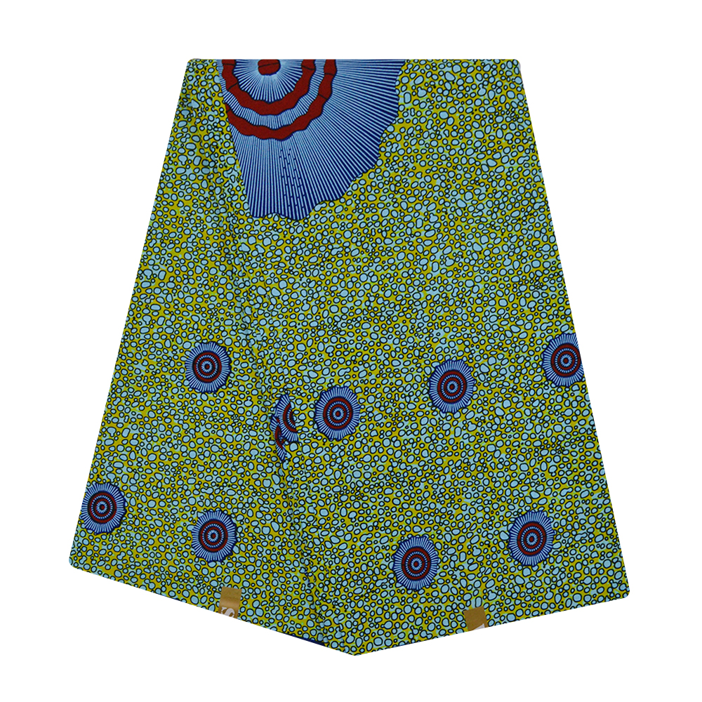 Ankara Wax Print Fabric African Nigerian Ghana 100% Cotton Wax Pange Wax Ankara Fabric African Real Wax Print For Batik 6 Yards