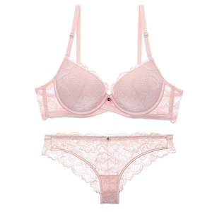 Image 5 - Lilymoda Sexy Push Up Floral Lace Bra Briefs Sets Transparent Panties Comfortable Brassiere Underwear Lingerie New Arrivals