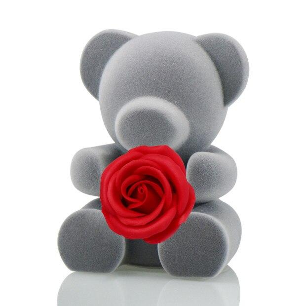 6 стилей,, свежие цветы красавицы и чудовища, красные вечные розы в стеклянном куполе, Рождественский подарок на день Святого Валентина, Прямая поставка - Цвет: Red rose bear