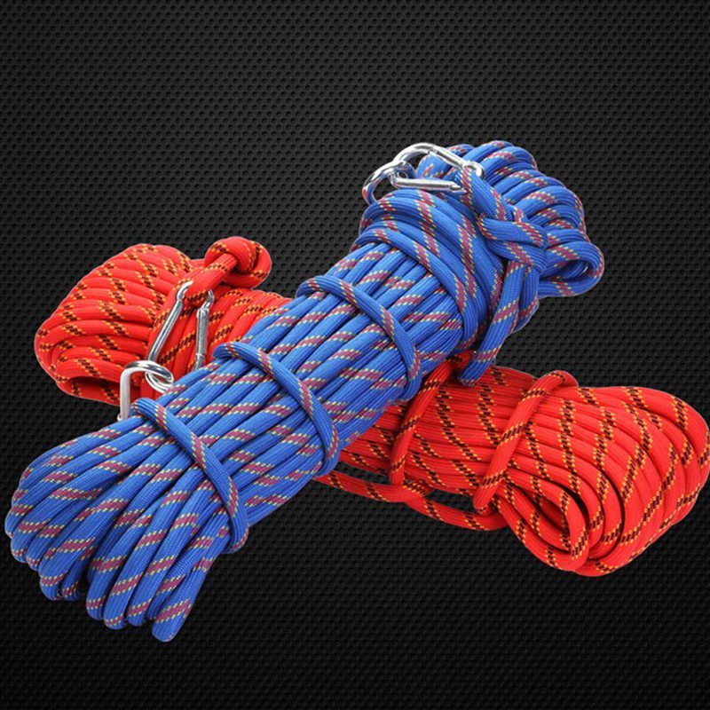 Professional Outdoor Rock Climbing Rope 10mm Diameter High Strength Survival Paracord Safety Rope Cord String Hiking Accessory