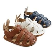 Summer Baby Shoes Boy Sandals Toddler PU Cartoon Ba