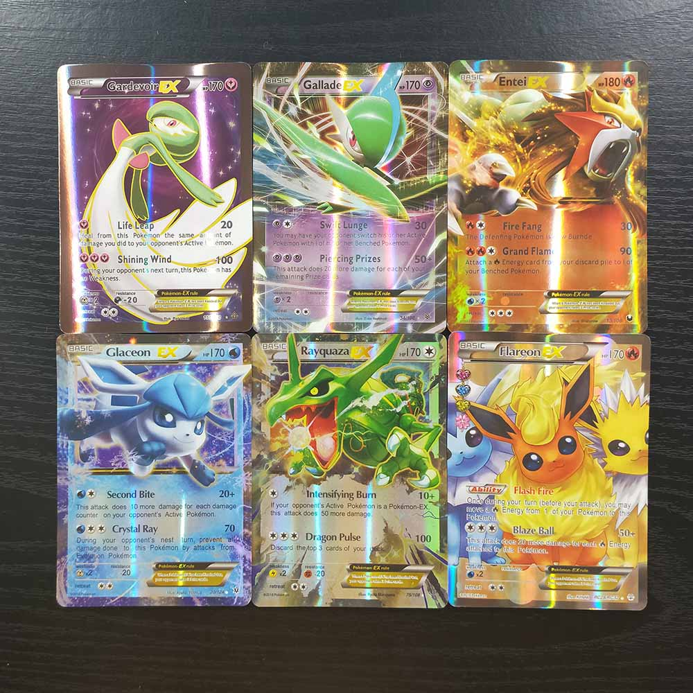 TAKARA TOMY Pokemon Cards Collections Duel Shining Card Board Game 100pcs Flash Cards 94 GX 6 Trainer Children Toys Gifts