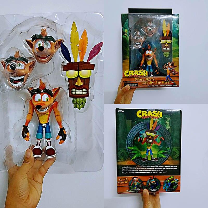 NECA Original Game Crash Bandicoot Series Aku Aku Mask Action Figure Model Toys Doll For Gift