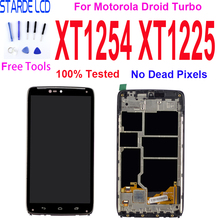 5.2'' LCD Display For Motorola Moto Droid Turbo XT1254 XT1225 Touch Screen Digitizer Assembly Replace AMOLED With Frame geometric chromatic 08 motorola droid 2 skinit skin