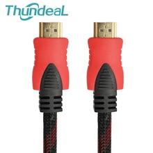 במהירות גבוהה כבל HDMI 5m 10m 20M 1.4V 1080P 3D עבור TD96 TD90 TD60 מקרן HDTV מחשב מצופה זהב תקע כבל HDMI