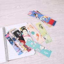 30 шт./пакет Бумага Закладка для книги Винтаж японский Стиль книга Знаки для школьников