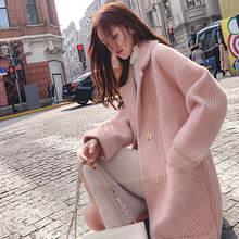 Новая шуба из меха норки женское Свободное пальто Женское шерстяное