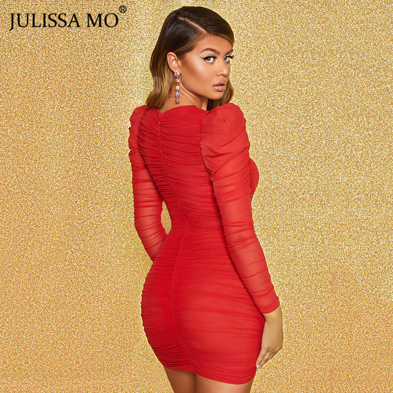 JULISSA MO mesh bodycon dress 2020 spring party dress (3)