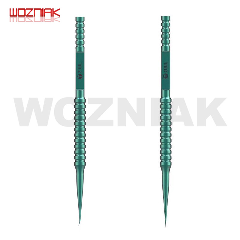 2UUL Green Titanium Alloy Ultra-precision Fingerprint Tweezers For Mobile Phone Repair BGA Motherboard Chip IC Flying Lead