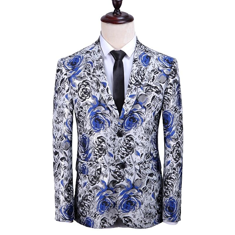 QJ cinga brand men's suit jacket size S-5XL, fashion business casual male Blazer coat, blue red black gold Jaqueta