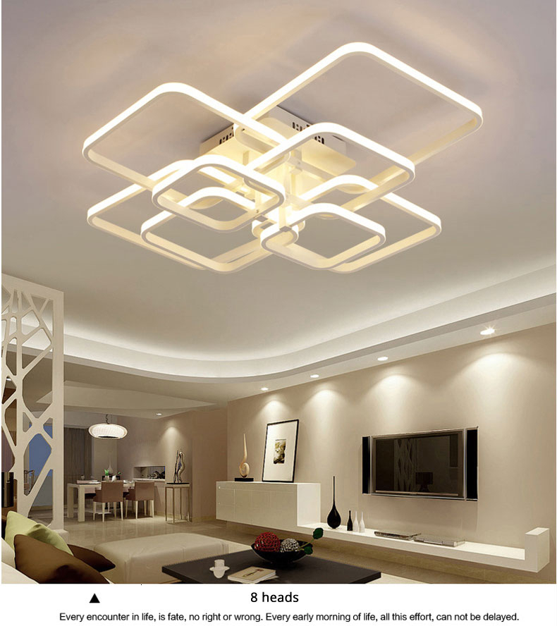 H1d53c7c3dbc74f5e9cc6d6a9109de3dd9 Square Circel Rings Ceiling Lights For Living Room Bedroom Home Modern Led Ceiling Lamp Fixtures lustre plafonnier dropshipping