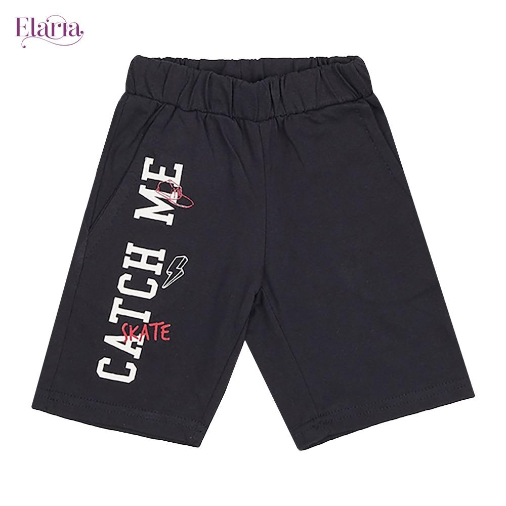 Elaria Shorts Esb-01-9 shorts for boys print lacing patterns children's clothing boys geometric print shorts