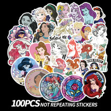 100Pcs Disneyings Princess Stickers Beautiful Waterproof Sticker for Car Luggage Suitcase Decor Toys Children Computer
