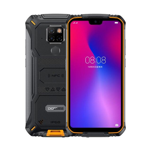 DOOGEE S68 Pro IP68 étanche téléphone portable Helio P70 Octa Core 6GB 128GB sans fil Charge NFC 6300mAh 12V2A Charge 5.84 pouces