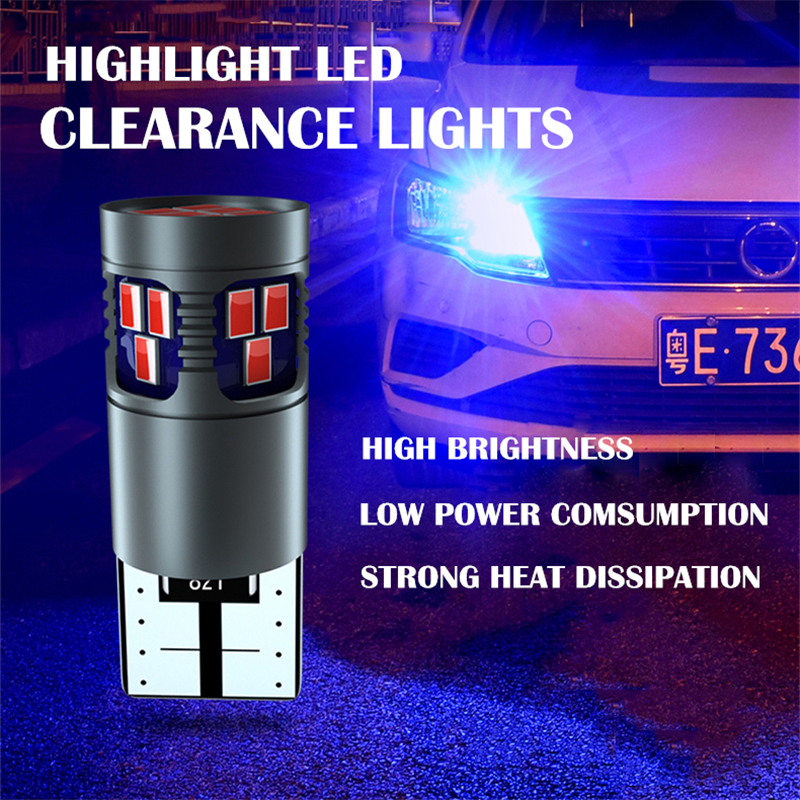 2Pcs Car T10 <font><b>LED</b></font> W5W Canbus Clearance Lights For <font><b>Mercedes</b></font> <font><b>Benz</b></font> C Class <font><b>W205</b></font> GLC GLA Decoding White Yellow Blue 168 194 Bulbs <font><b>Led</b></font> image